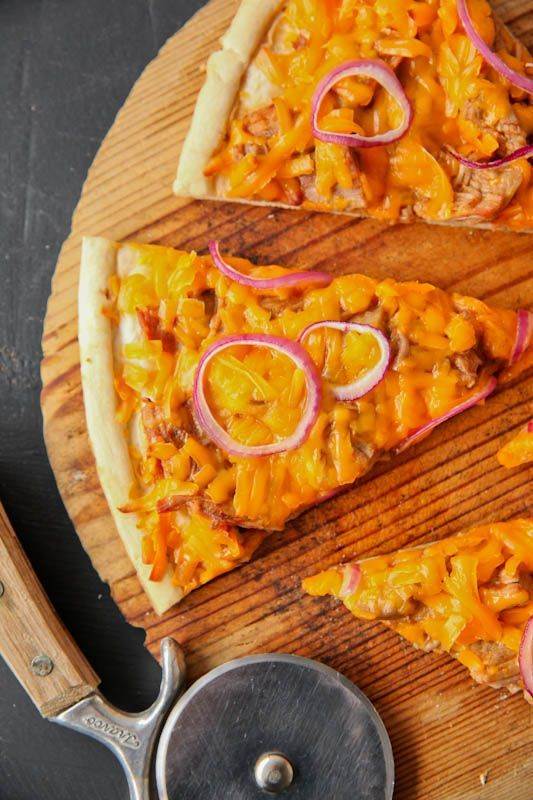 "... BBQ Turkey Pizza"" - great way to use up leftover Thanksgiving turkey"