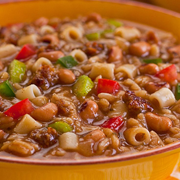 ... black-eyed peas and Zatarain's Gumbo Mix with Rice. Hearty and tasty