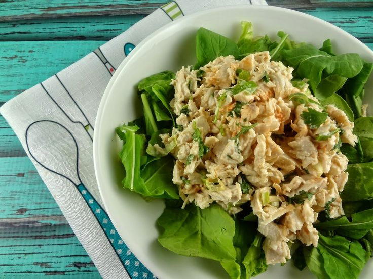 Lime & Cilantro Chicken Salad-Yummy. Nice variation of the mayo-heavy ...