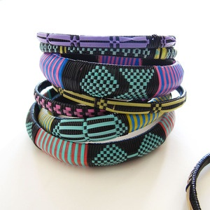Bangles from Deep Dark Africa. Love the colours.