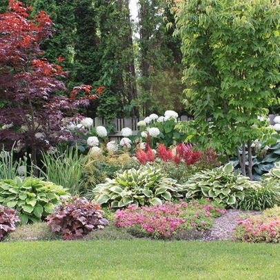 Pin by blythe on landscaping for privacy pinterest for Small trees for flower beds
