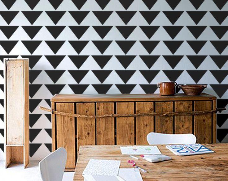 Stencil for Walls - Mod Triangle PATTERN - Allover Wall STENCIL - DIY Modern Home Decor. $34.95, via Etsy.