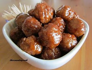Party Meatballs (Slow Cooker) Made these for dinner tonight for ...