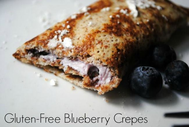 ... you --- Gluten-free blueberry crepes. Delish! #recipe #gfree #crepes