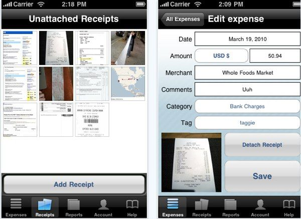 iphone expense tracking apps