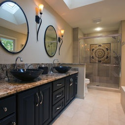 Long and narrow bathroom design master snazzy home for Bathroom ideas 10x6