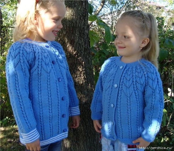 Вязание кофточки для девочек 4-5 лет спицами