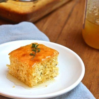 Honey Cornbread: 1 c AP FLOUR • 1 c CORNMEAL • 2 tsp BAKING POWDER ...