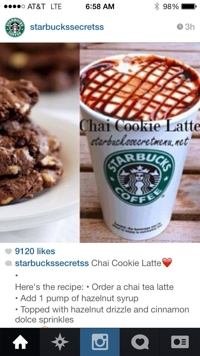 Chai Cookie Latte | Yum! -Drink it Up | Pinterest