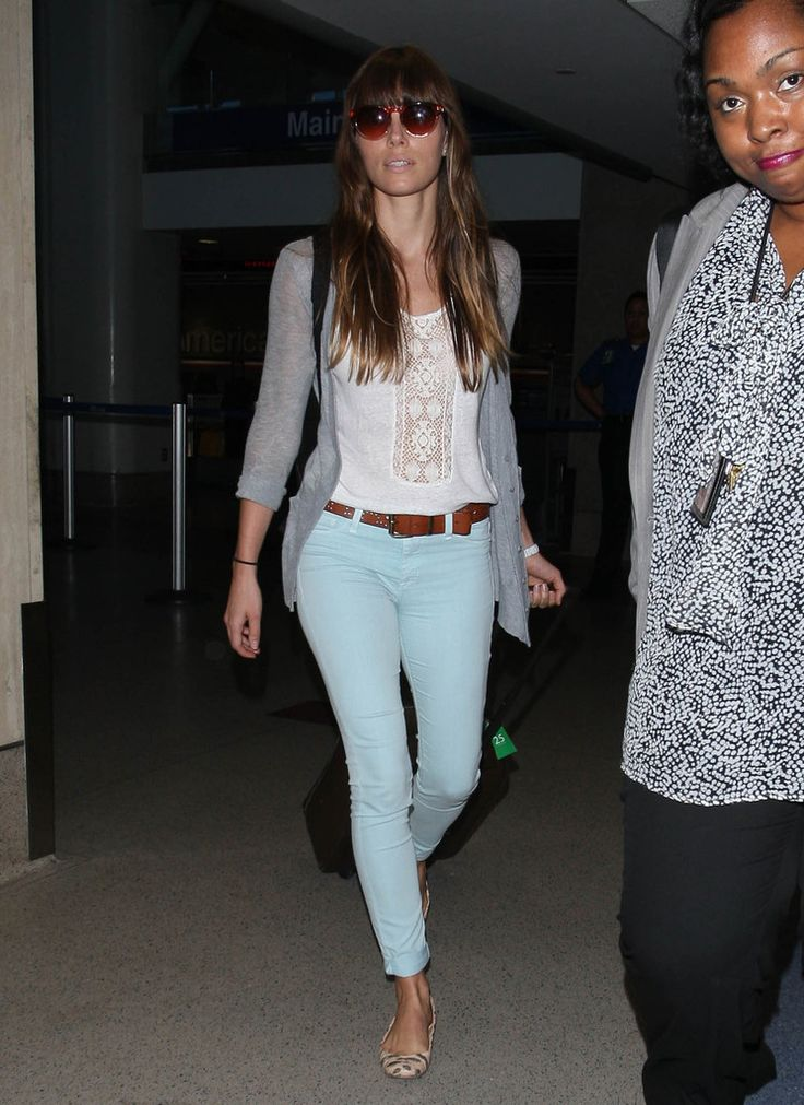 Jessica Biel Photos - Jessica Biel Touches Down At LAX - Zimbio