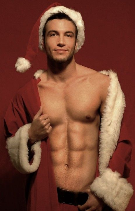 A picture from a selection of images of sexy models in Christmas outfit.