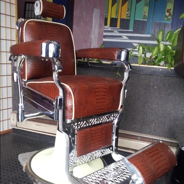 Barber Shop Furniture : Gator skinned barber chair The Barber Shop! Pinterest