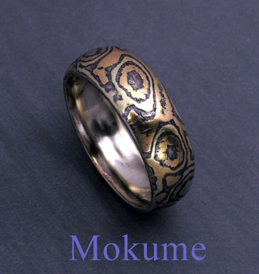 JUPITER - MOKUME RING This style of metal work is just like/is the way ...