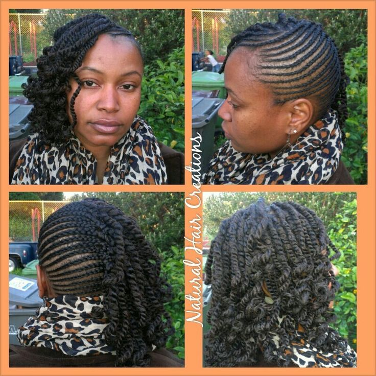 Kinky twists Cornrows natural hair | Hairstyles | Pinterest