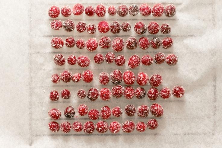 Sparkling cranberries | Cranberries for Christmas | Pinterest