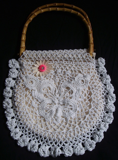 Irish Crochet Bag Free Pattern : Irish Lace bag - free pattern on Ravelry Crochet Irish ...