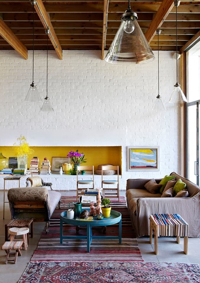 Yellow Accent Wall Living Room Pinterest