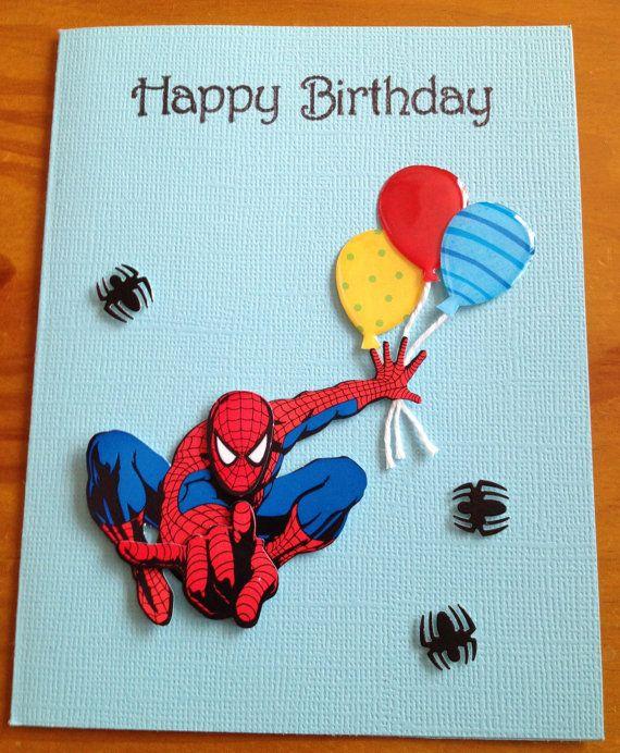 Spiderman Birthday card. $3.50, via Etsy.