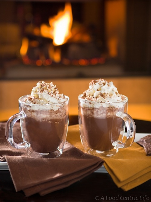 Hot chocolate and fire places <3