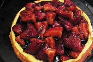Mascarpone Cheesecake with Balsamic Strawberries