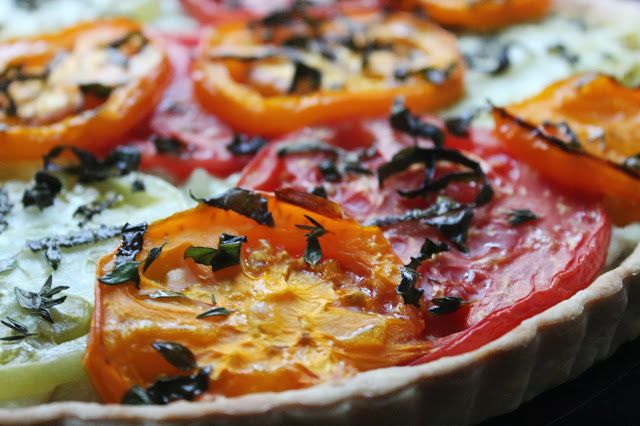 ... Dishings: How To Make An Heirloom Tomato And Goat Cheese Tart
