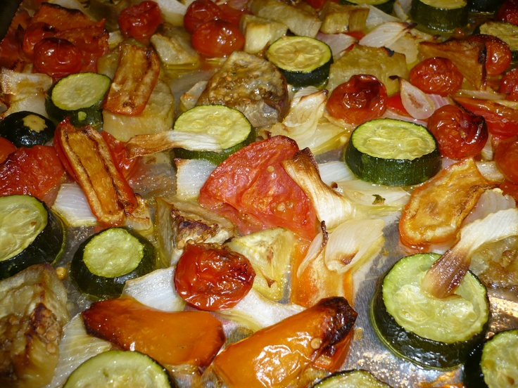 Oven Roasted Vegetables as Delicious Recipe - Appetizer or Entree