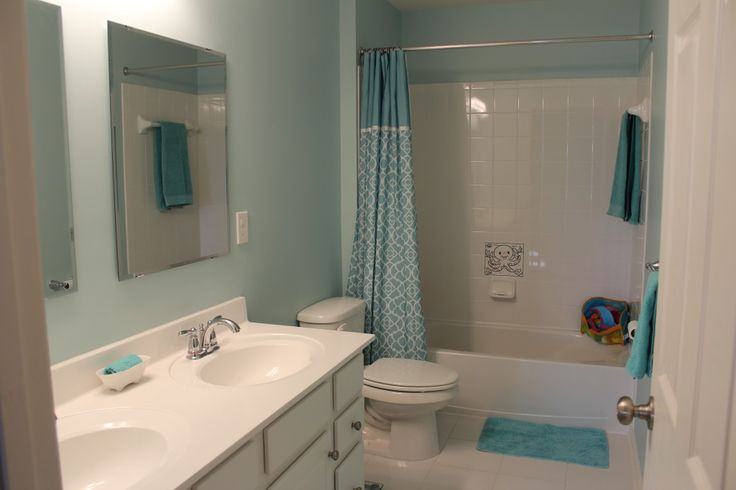 painted bathroom tidewater sherwin williams - love this color