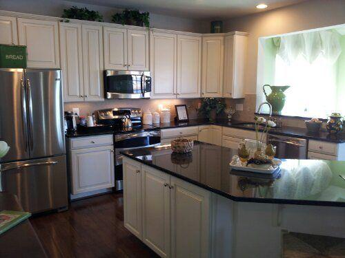 Loving the white cabinets!  Ryan Homes, Rome Model, Kitchen