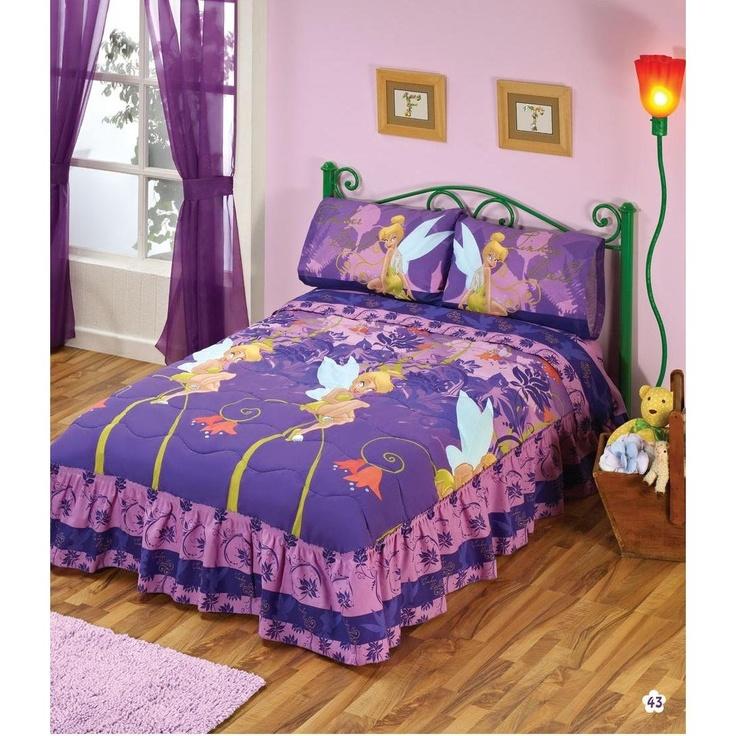 tinkerbell bedding set girl bedroom idea pinterest