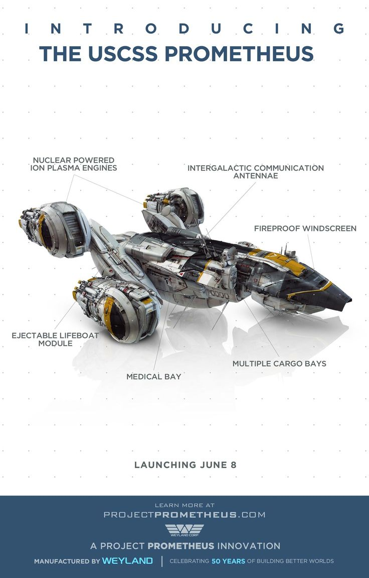 "THe USCSS Prometheus from the upcoming film, ""Prometheus"""