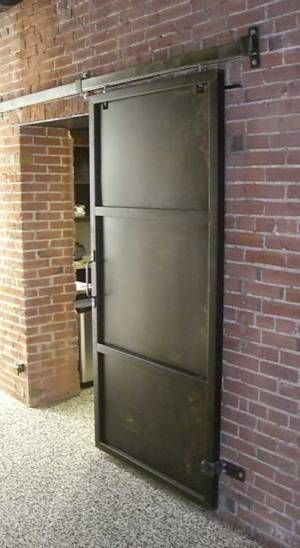 Great rolling door steel atl tica 2 pinterest for Metal barn doors
