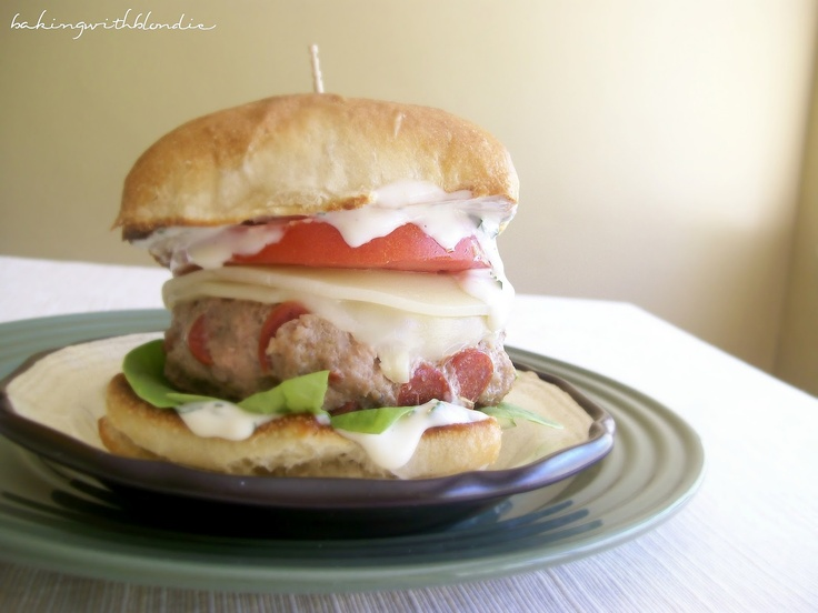 Turkey-Pepperoni Burgers | Good Burger | Pinterest