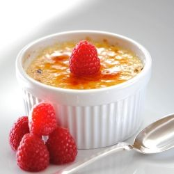 ... enjoy your sweets. Try this low fat version of deliciious Creme Brulee