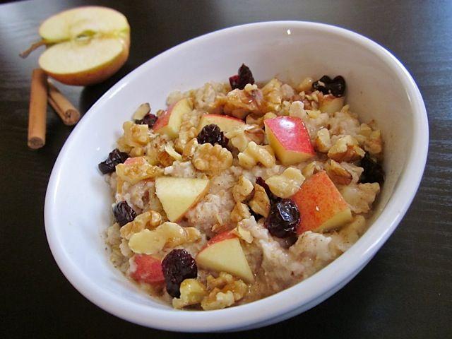 autumn fruit and nut oatmeal - Budget Bytes