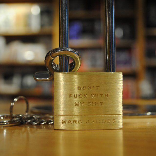 Fancy - Marc Jacobs Padlock Keychain