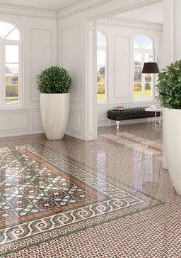Flooring Painted Floor Inlay Spanish Tiles Terracotta Bamboo