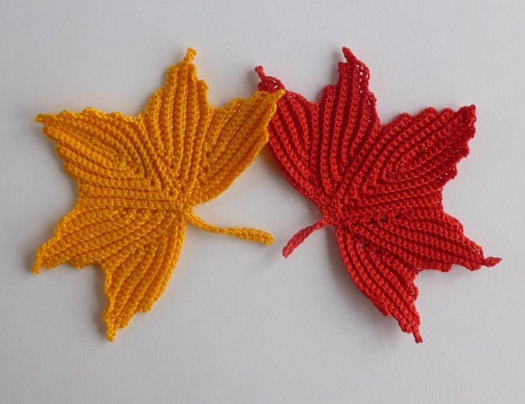 Knit Maple Leaf Pattern Free : Pin by Nancy Plants on Crochet Appliques Pinterest