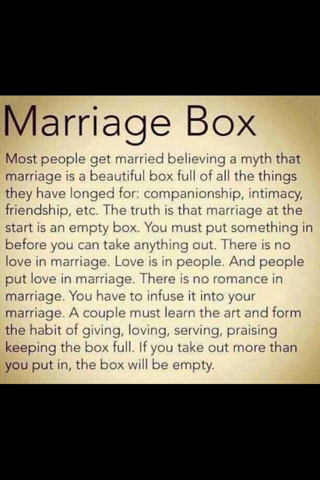 marriage box inspirational sayings inspiration pinterest
