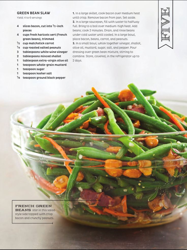 Green Bean Slaw | Recipes - Fruits & Veggies | Pinterest