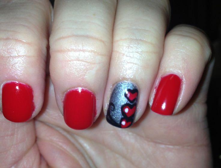 valentine shellac nails