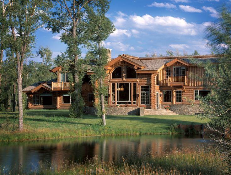 Beautiful Log Cabins Pinterest