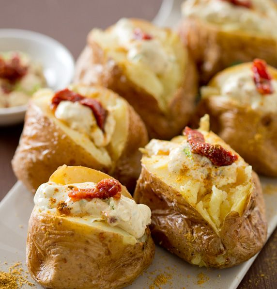 Baked Potato with Sour Cream   Vegetables/Vegetarian   Pinterest