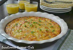 Sunflower Supper Club: Crustless Ham & Cheese Quiche