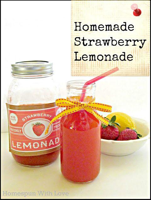 Homemade Strawberry Lemonade | Amazing recipes and foods