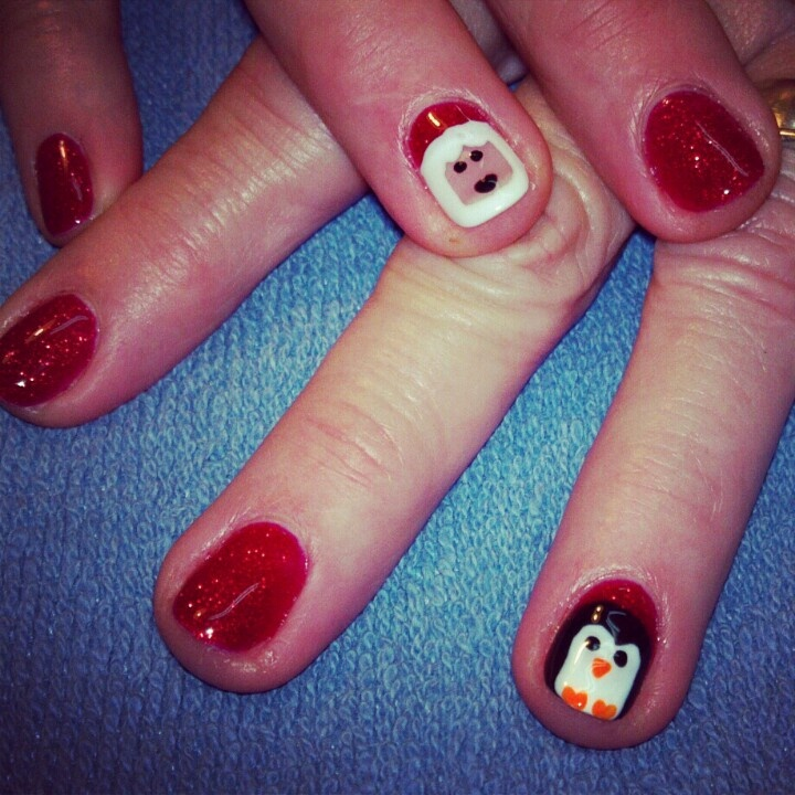 shellac Christmas nails | Nails | Pinterest