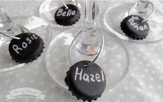 DIY Wine Charms: perfect party favors for any wine tasting party!