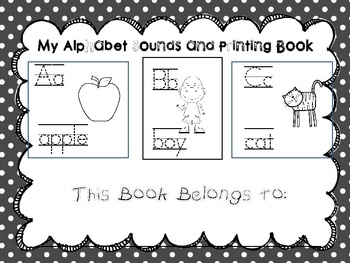 This alphabet book is a great tool for reinforcing alphabet recognition and letter sounds with your little learners. Suggestions for use:Us...