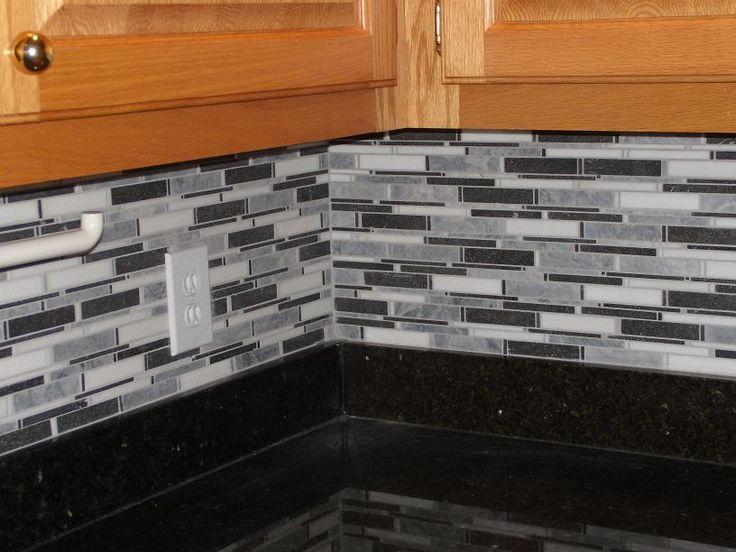 black and white backsplash kitchen backsplash pinterest