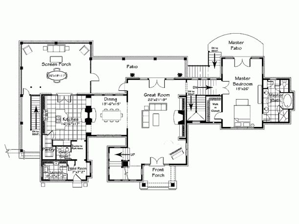 Level 1 Eplans Craftsman House Plan Floor Plans 1