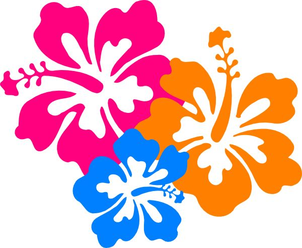 Hawaiian Flowers Border Clip Art Hawaiian flower clip art